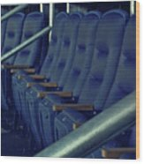 Blue Box Seats Wood Print