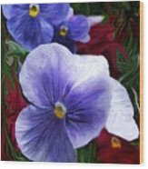 Blue Boys Wood Print