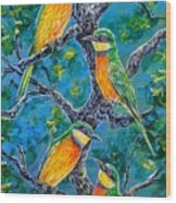 Blue Breasted Bee Eater Wood Print