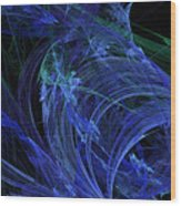 Blue Breeze Wood Print by Andee Design