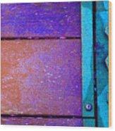 Blue Bridge Bolts Wood Print