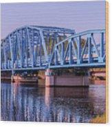 Blue Bridge Georgia Florida Line Wood Print