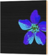 Blue By You Wood Print