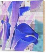 Blue Calla Lily2 Wood Print