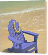 Blue Chair Wood Print