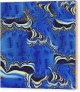 Blue Chifon Wood Print