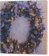 Blue Christmas Wood Print