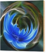 Blue Circle Of Life Wood Print