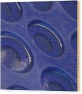Blue Circles Wood Print
