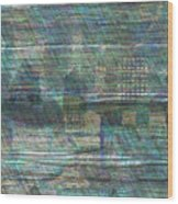 Blue City Moon Wood Print