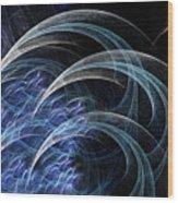 Blue Claws Wood Print