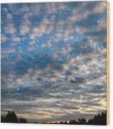 Blue Cloud  Neelamegam Wood Print