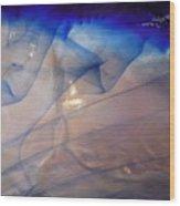 Blue Cloud Waves Wood Print