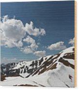 Blue Cloudy Sky Over Spring Tatra Mountains, Poland, Europe Wood Print