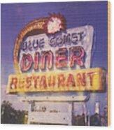 Blue Comet Diner - Hazelton Wood Print