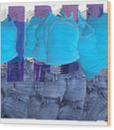 Blue Comp Number Three Wood Print
