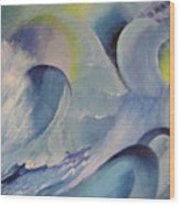 Blue Concerto 1 Wood Print