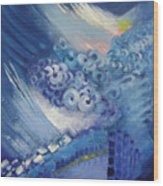 Blue Concerto 2 Wood Print