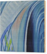 Blue Concerto 3 Wood Print