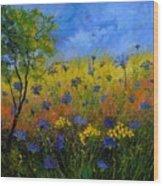 Blue Cornflowers 7761 Wood Print