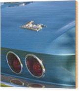 Blue Corvette Stingray Wood Print