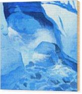 Blue Cove Wood Print