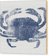 Blue Crab- Art By Linda Woods Wood Print