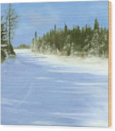 Blue Cruiser Wood Print