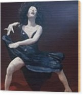 Blue Dancer Front View Wood Print