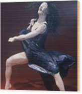 Blue Dancer Left View Wood Print