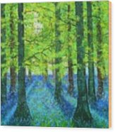 Blue Dawn Wood Print