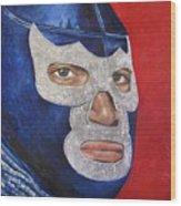 Blue Demon Jr Wood Print