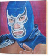 Blue Demon Wood Print