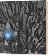 Blue Diamond In The Rough Wood Print