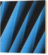 Blue Directions Wood Print