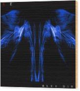 Blue Divine Wood Print