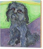 Blue Dog Wood Print