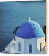 Blue Dome Wood Print