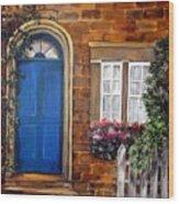 Blue Door 2 Wood Print