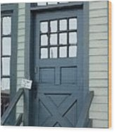 Blue Door At The Seaport Wood Print