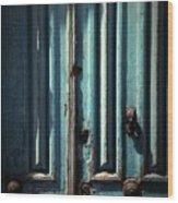 Blue Door. Essaouira. Morocco Wood Print