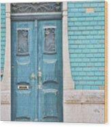 Blue Door, Portugal Wood Print