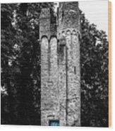 Blue Door Tower Wood Print