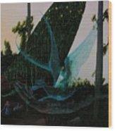 Blue Dragon-detail Wood Print