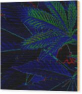 Blue Dream Wood Print