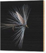 Blue Dun Wood Print