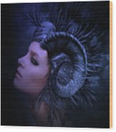 Blue Dusk Wood Print