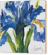 Blue Dutch Iris For Kappa Kappa Gamma Wood Print