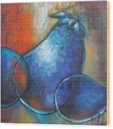 Blue Eggplants Wood Print