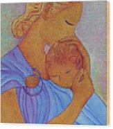 Blue Embrace Wood Print